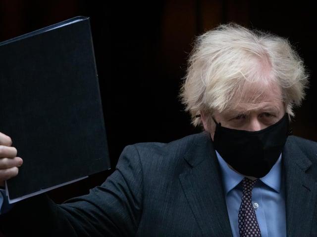 Boris Johnson heads for the Commons. Photo: PA