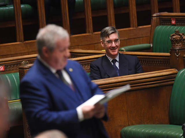 Handout photo issued by UK Parliament of Leader of the House of Commons Jacob Rees-Mogg during the debate in the House of Commons on the EU (Future Relationship) Bill. Photo: UK Parliament/Jessica Taylor