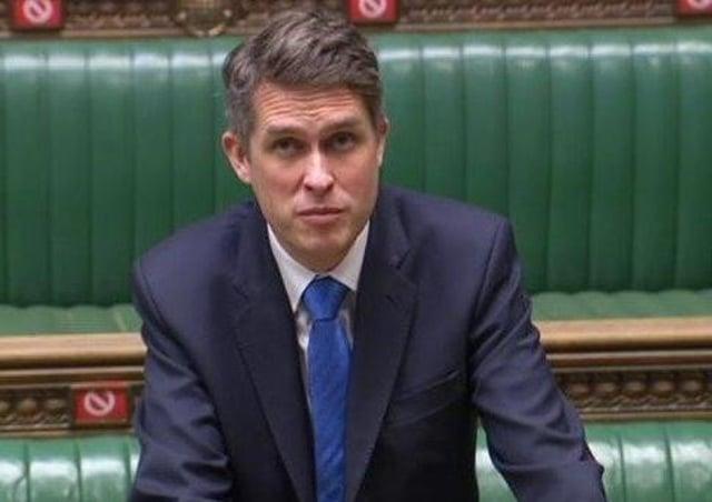 Education Secretary Gavin Williamson.