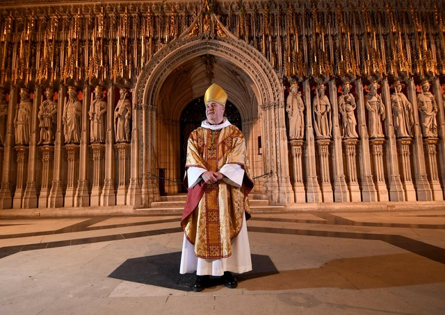 The Most Teverend Stephen Cottrell during a pre-Christmas visit to York Minster. Photo: Simon Hulme.