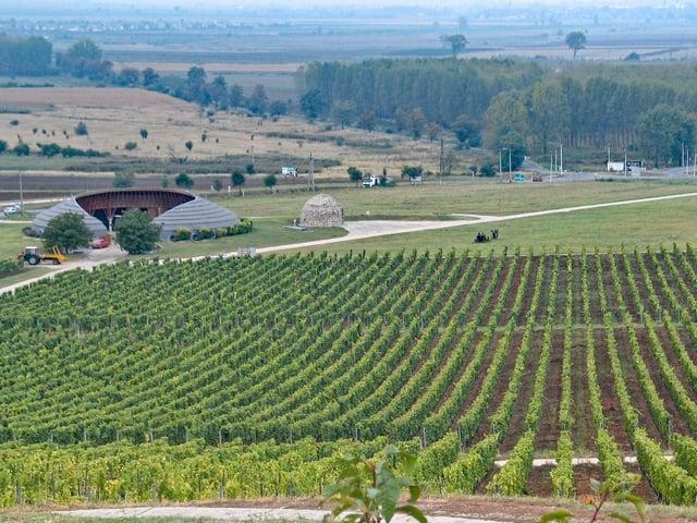 The futuristic-Disznoko winery in Hungary.
