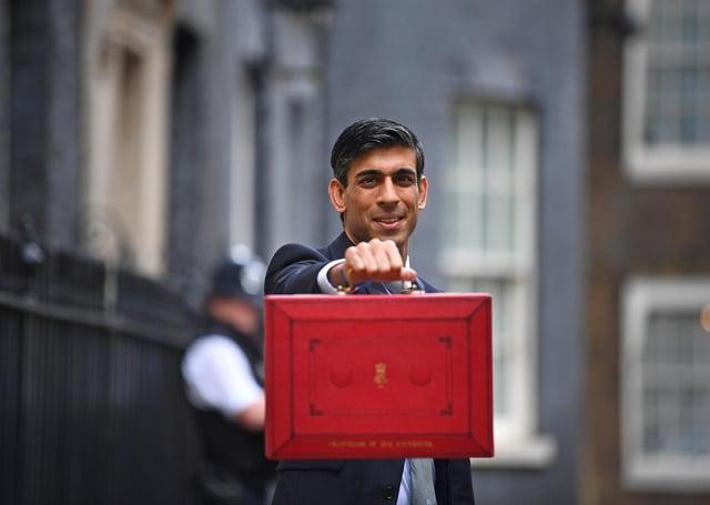 Chancellor Rishi Sunak on Budget day last year.