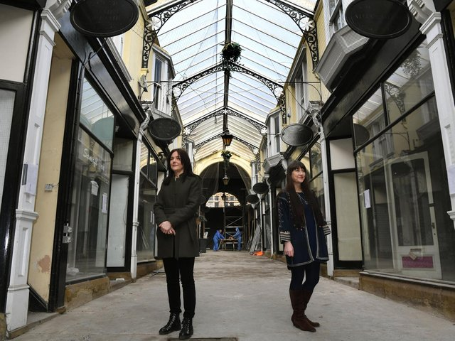 Sarah Barnes and Natalie Liddle are members of the steering group at The Arcade - Dewsbury community interest company.