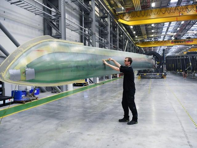 Siemens wind turbine factory.