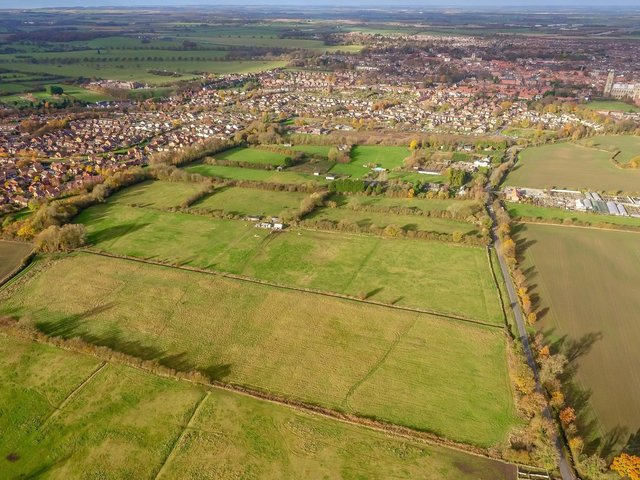 The homes will be built on fields off Long Lane
