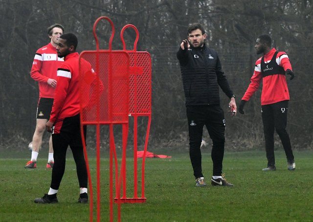 Familiar face: Doncaster Rovers' Andy Butler in charge of his first training session after Darren Moore left for Sheffield Wednesday. Picture: Andrew Roe