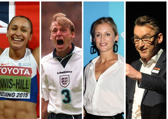 Heptathlete Jessica Ennis-Hill, footballer Stuart Pearce, actress Denise Gough and artistic director, James Brining, right, are all interviewed by James Willstrop in 'Interviews with Inspiration'.