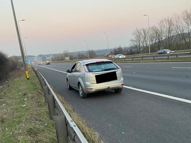 The driver was reported for driving without insurance (Photo: WYP)