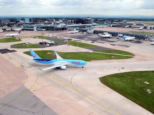 Manchester Airport is the biggest in the North of England. Photo credit should read: Martin Rickett/PA Wire