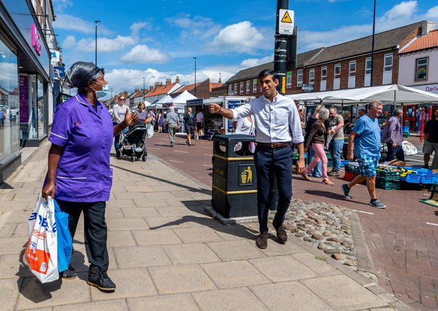 Chancellor Rishi Sunak during a visit to Northallerton in his Richmond constituency last June.