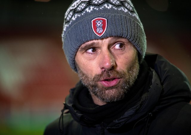 Rotherham United manager Paul Warne.  Picture Bruce Rollinson