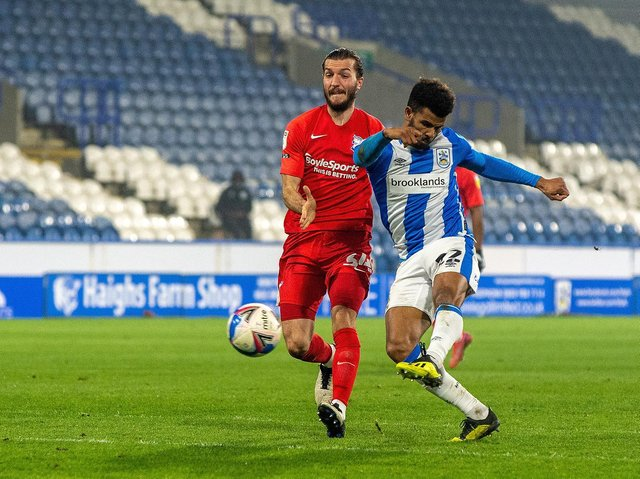 GOAL: Fraizer Campbell put Huddersfield Town in front... but not for ,long