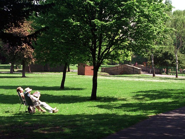 Archive pic: People relaxing in the sun in Pickering Park Picture: John Jones