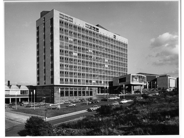 The Richmond Building circa 1965 when it was the Main Building of the  Bradford Institute of Technology. Photo credit: The University of Bradford