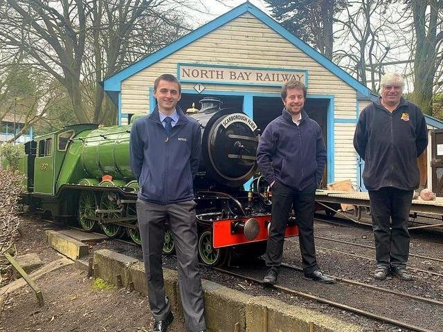 John Kerr and Peter Bryant have taken over the railway from the retiring David Humphreys
