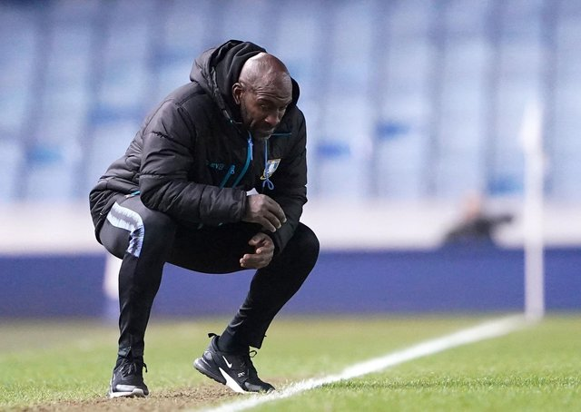Darren Moore: New Sheffield Wednesday manager took charge of his first game at Hillsborough last night. (Picture: Zac Goodwin/PA)