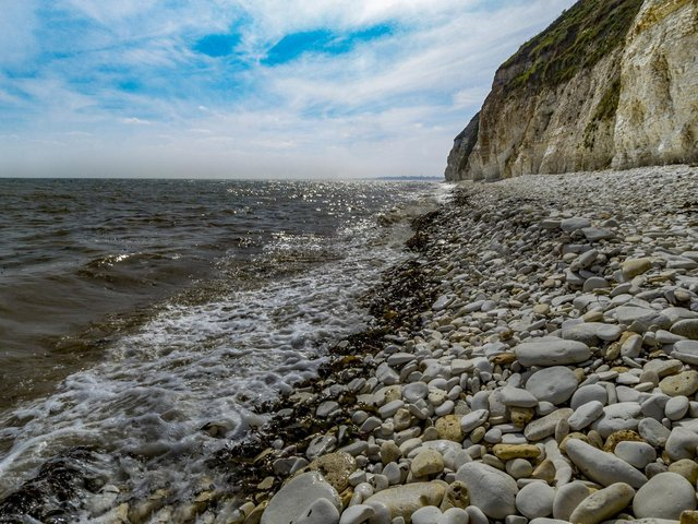 A beach on Flamborough Head at high tide Picture: James Hardisty