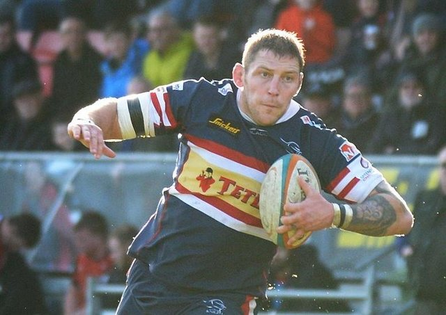 Mr Yorkshire rugby: Matt Challinor pictured playing for Doncaster Knights against Hartpury in 2017 (Picture: Marie Caley)
