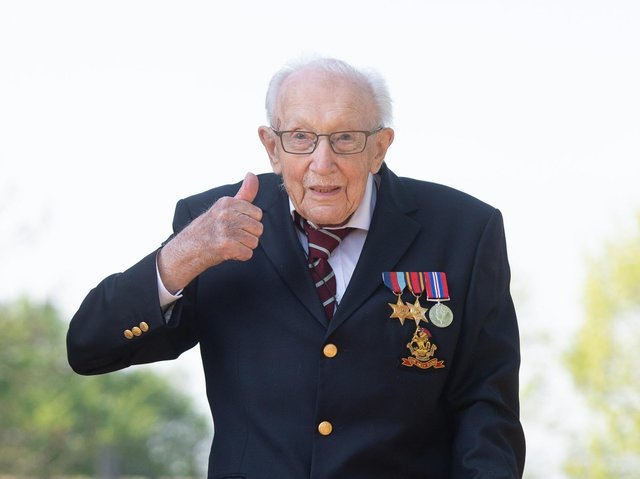 Captain Sir Tom Moore died at Bedford Hospital on February 2 after testing positive for Covid-19.
