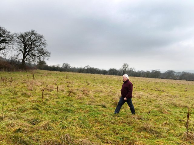 The site in Sun Lane where 500 homes are set to be built