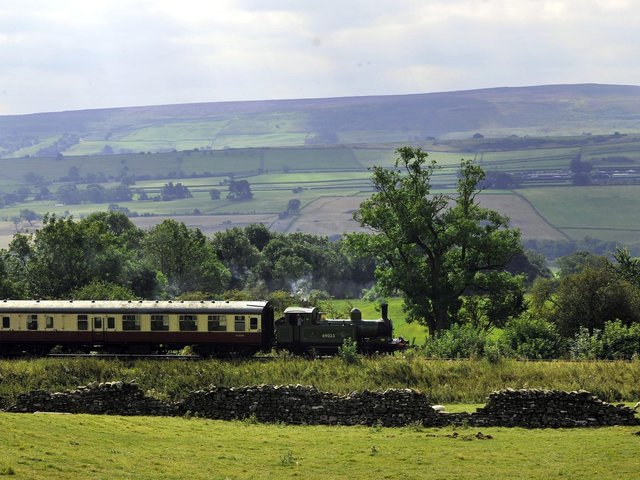 """Archive pic: The steam locomotive J72 """"Joem"""" pulls carriages on the Wensleydale Railway near Leyburn  Picture: John Giles/PA Wire"""