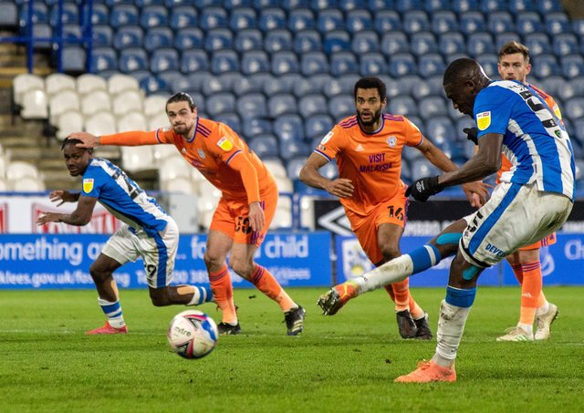 Miss: Yaya Sanogo puts his penalty wide.  Picture: Bruce Rollinson