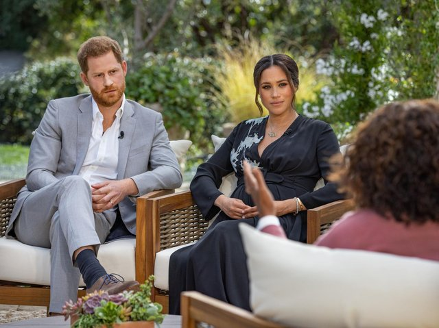 The Harry and Meghan interview with Oprah Winfrey will be shown in America tonight.