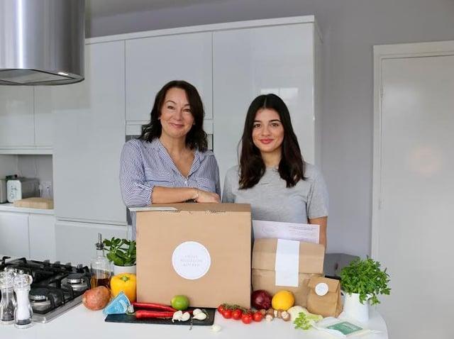 Micaela Clegg and daughter Evangeline at Little Weighton Kitchen.