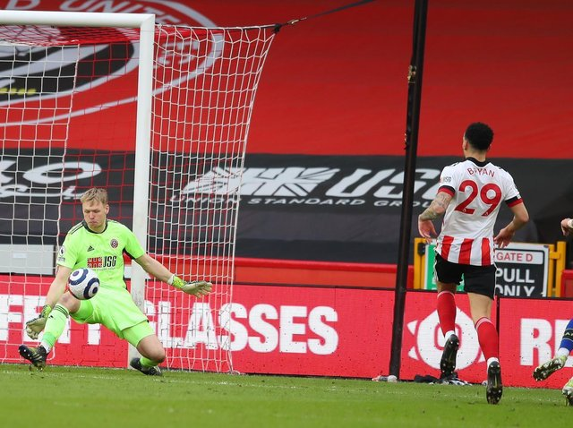 CREDIT: Goalkeeper Aaron Ramsdale was the only Sheffield United player who could be proud of his performance