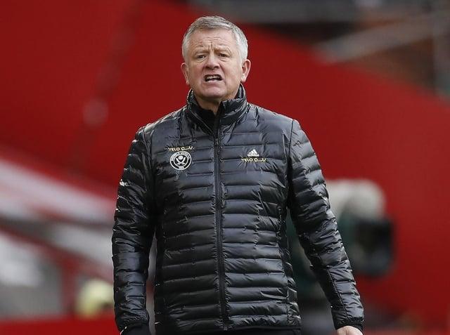 FRUSTRATION: Sheffield United manager Chris Wilder