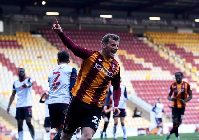 Danny Rowe: Scored against Bolton as the weekend but will he start for Bradford tonight. (Picture: Simon Hulme)