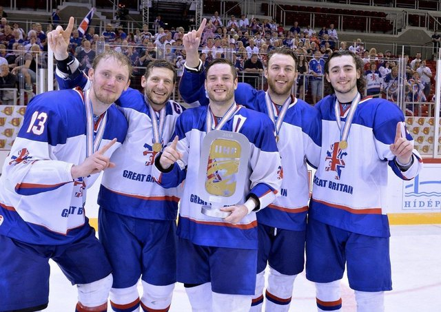 FAMILIAR FACES: Liam Kirk, far right, celebrates winning a World Championship gold medal with Davey Phillips, Jonathan Phillips, Robert Dowd and Ben O'Connor. Picture courtesy of Dean Woolley.