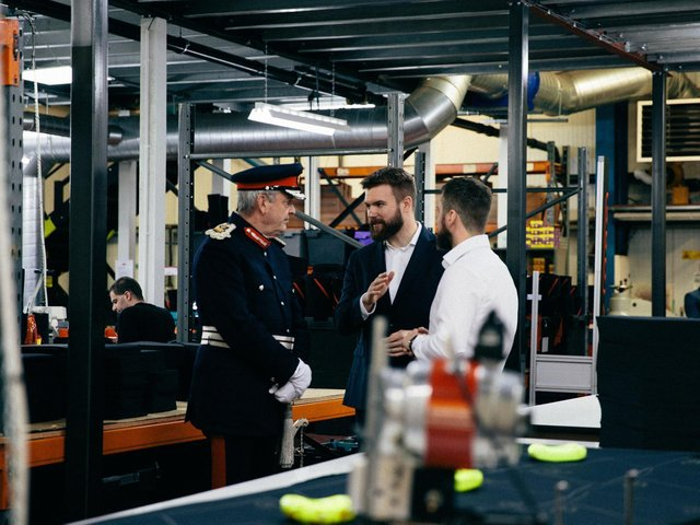 SBD Apparel is also the title sponsor of the World's Strongest Man, which has hugely increased awareness of the business across Europe and the US. Library image of the visit of HM Lord-Lieutenant of South Yorkshire, Andrew J Coombe, to SBD Apparel on achieving  The Queen's Award for Enterprise 2018.