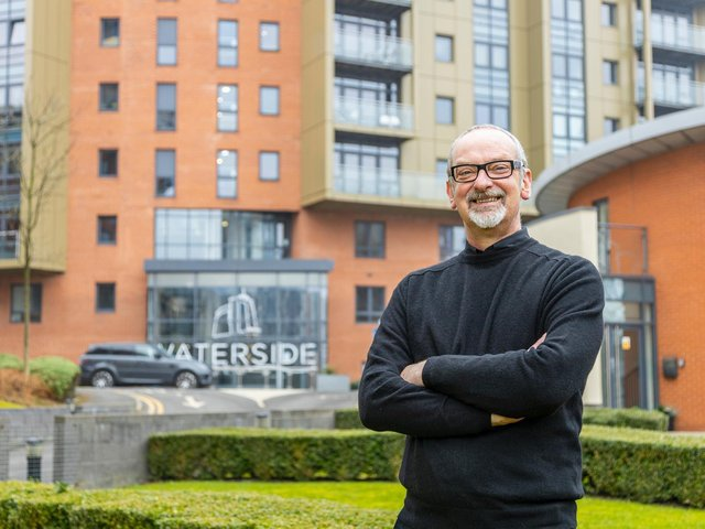 Dr Bruce Carnie, a resident at Waterside, is pleased with the work done by LaSalle