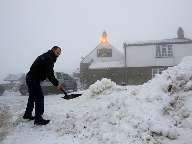 The Lion Inn at Blakey Ridge is often cut off by snow