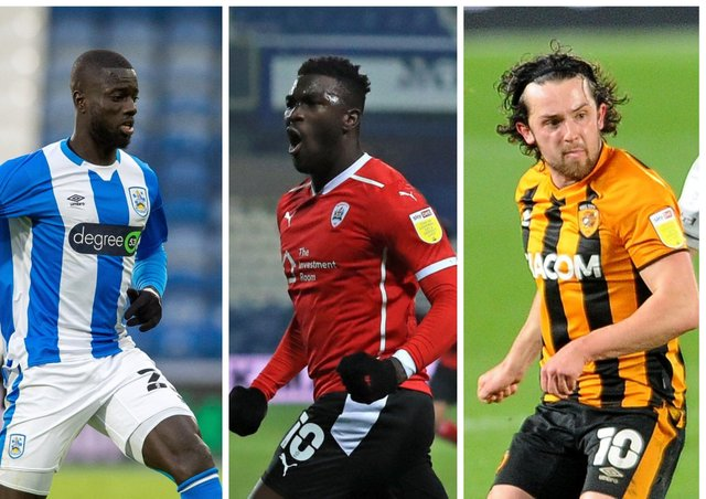 THE CHOSEN ONES: Naby Sarr, left, Daryl Dike and George Honeyman all make the cut this week - but who else? See below ....