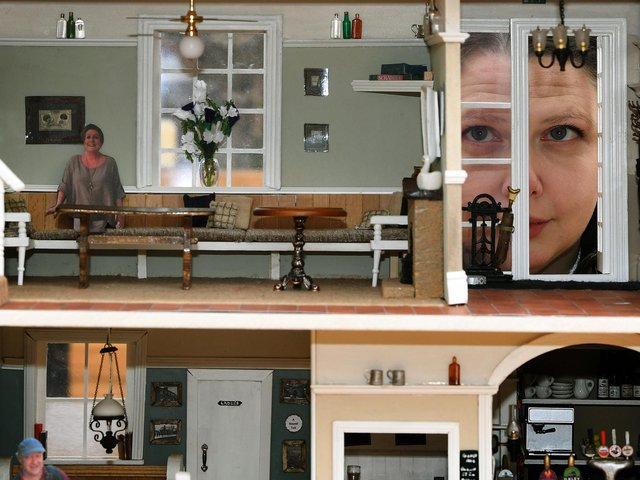 A creative Leeds landlady has spent more than 300 hours during lockdown recreating her pub - as an incredible dolls house.