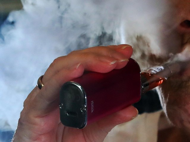 Vaping will 'massively cut the harm you do to your body', doctors say Credit: Peter Byrne/PA Wire