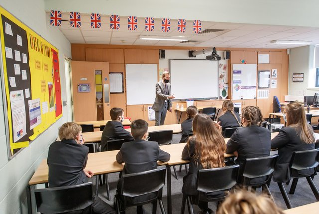 A lesson at Outwood Academy in Woodlands, Doncaster in Yorkshire, as pupils in England return to school for the first time in two months as part of the first stage of lockdown easing. Picture: Danny Lawson/PA Wire