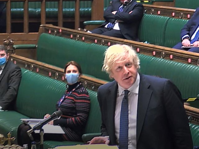 Prime Minister Boris Johnson speaks during Prime Minister's Questions in the House of Commons, London. Photo: PA