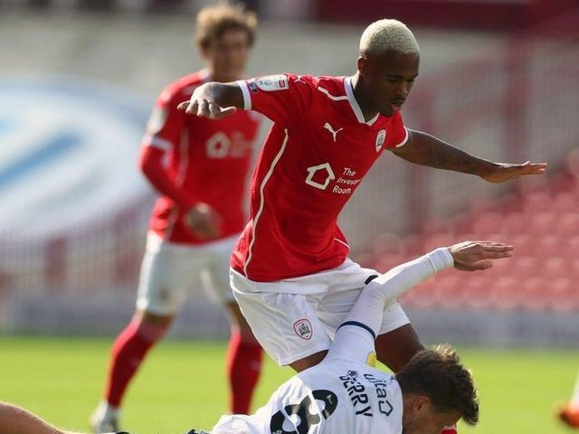 Doncaster Rovers loanee Elliot Simoes, pictured in action for Barnsley FC.