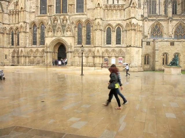 Marshalls has paved many UK landmarks including the area around York Minster