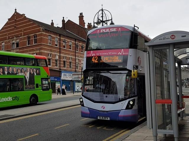 A bus in Leeds.