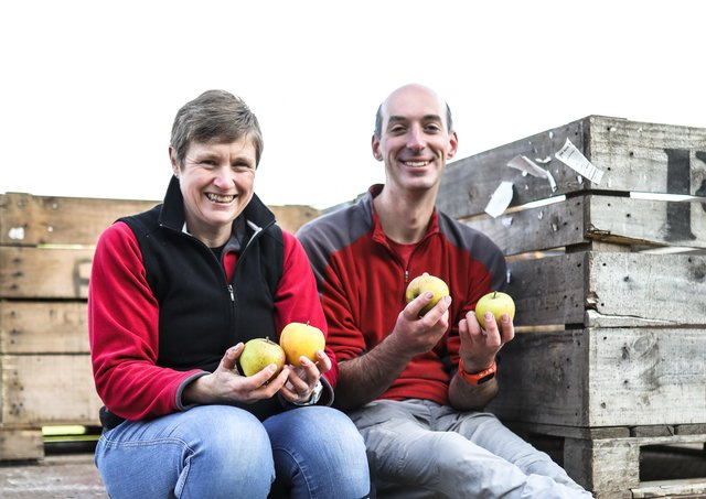 Jane and Jon Birch who run Yorkshire Wolds Apple Company. Picture: Anoif Photography