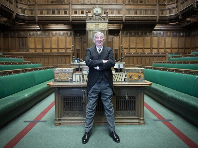 """Commons Speaker Sir Lindsay Hoyle has slapped down a transport minister who claimed Boris Johnson is """"always right"""" after denying a northern transport body had seen its budget cut. Pic: PA"""