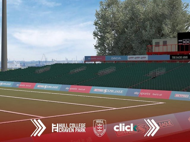 What the new South Stand will look like at Hull KR. (HULL KR)