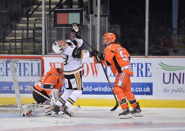 NO LOVE LOST: Sheffield Steelers and Nottingham Panthers will meet each other at least four times in April's Elite Series. Picture: Dean Woolley.