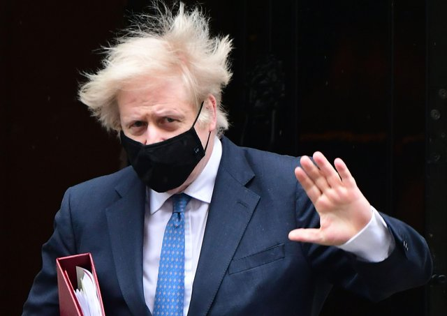 This was Boris Johnson leaving for Prime Minister's Questions last week.