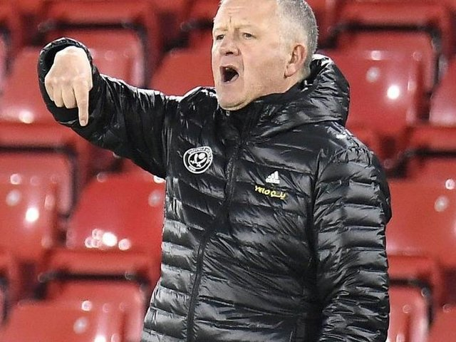 Chris Wilder. Picture: Sportimage