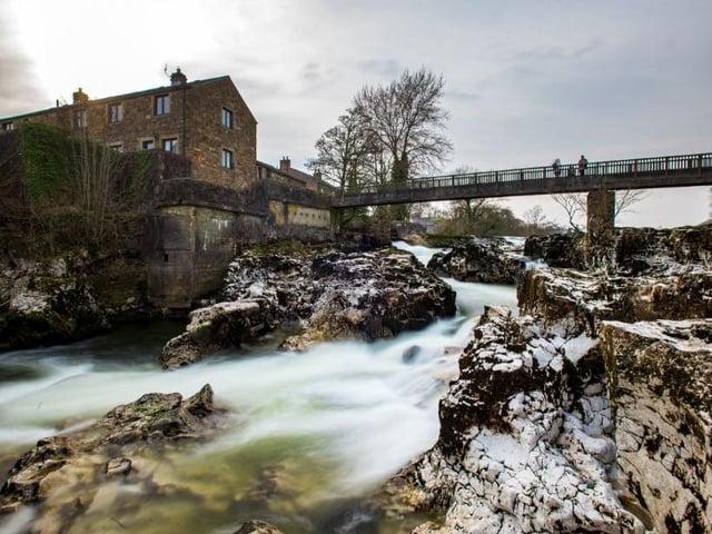 Linton Falls, Grassington, in March 2020. Picture: Bruce Rollinson.